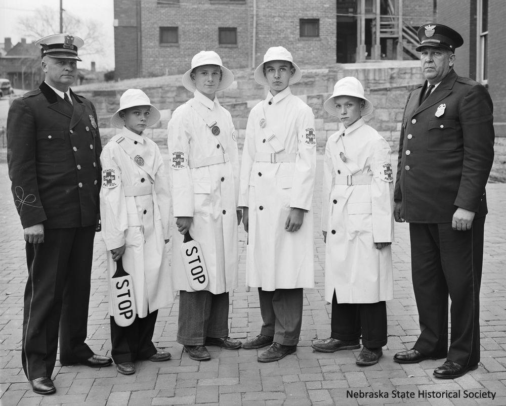 Columbian School Safety Patrol, Omaha, 1939 (RG3882.PH42