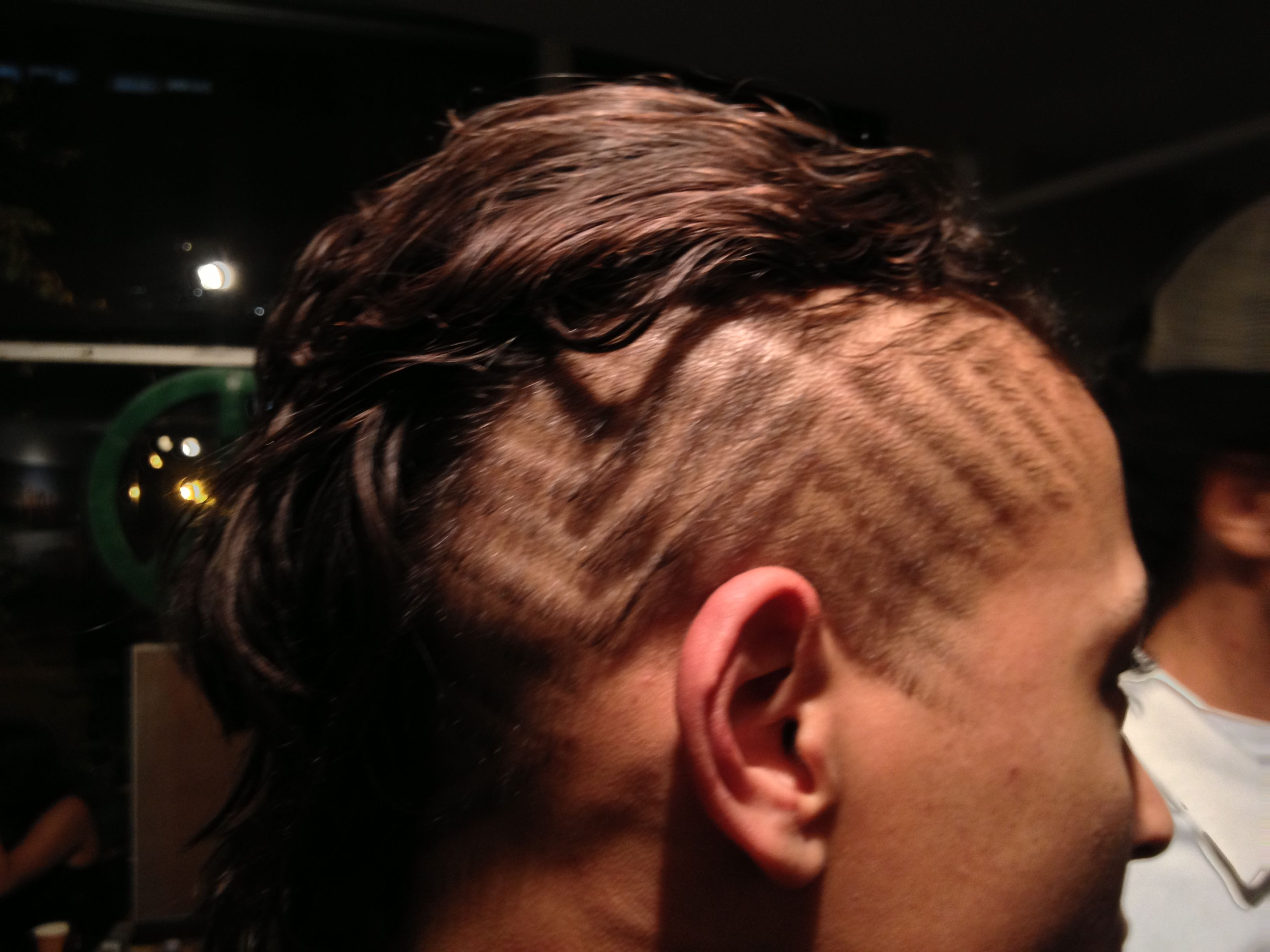 """mens shaved hair pattern"""