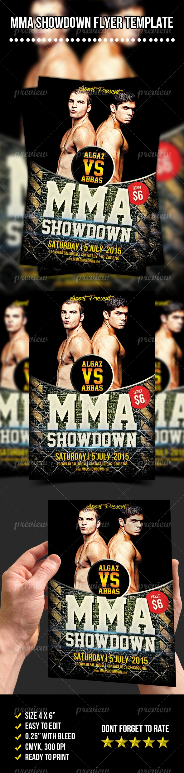 Mma Showdown Flyer Vol   Print    Mma
