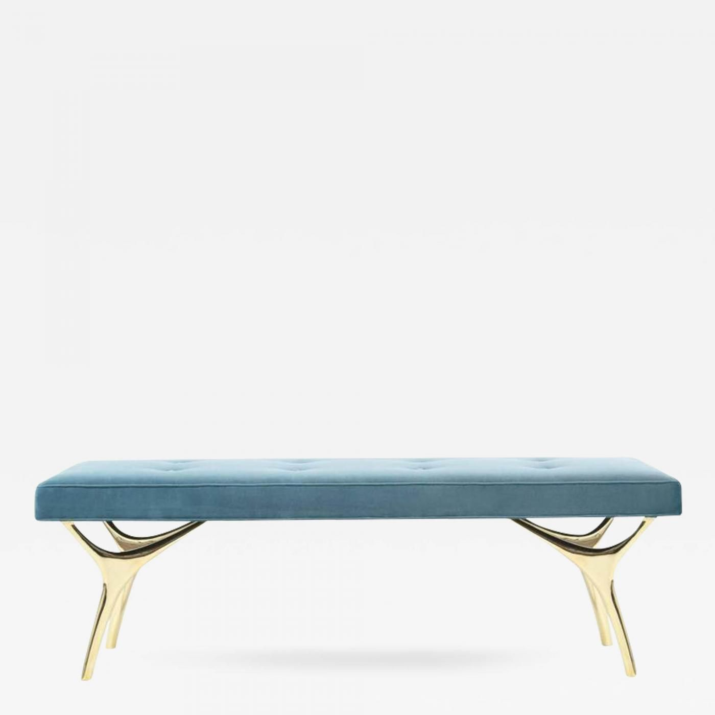 Carlos Solano Granda Crescent Bench In Brass Offered By Stamford Modern On Incollect Modern Seating Mid Modern Bench