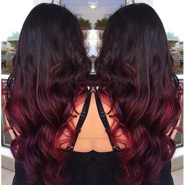Rote Frisuren Ombre Haarfarbe Trends Neue Haar Farben Fur Moderne