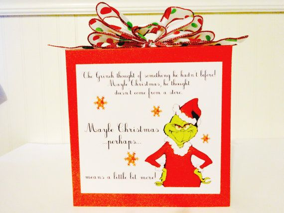 This sign is of the Grinch and his thought by madcraftycreation