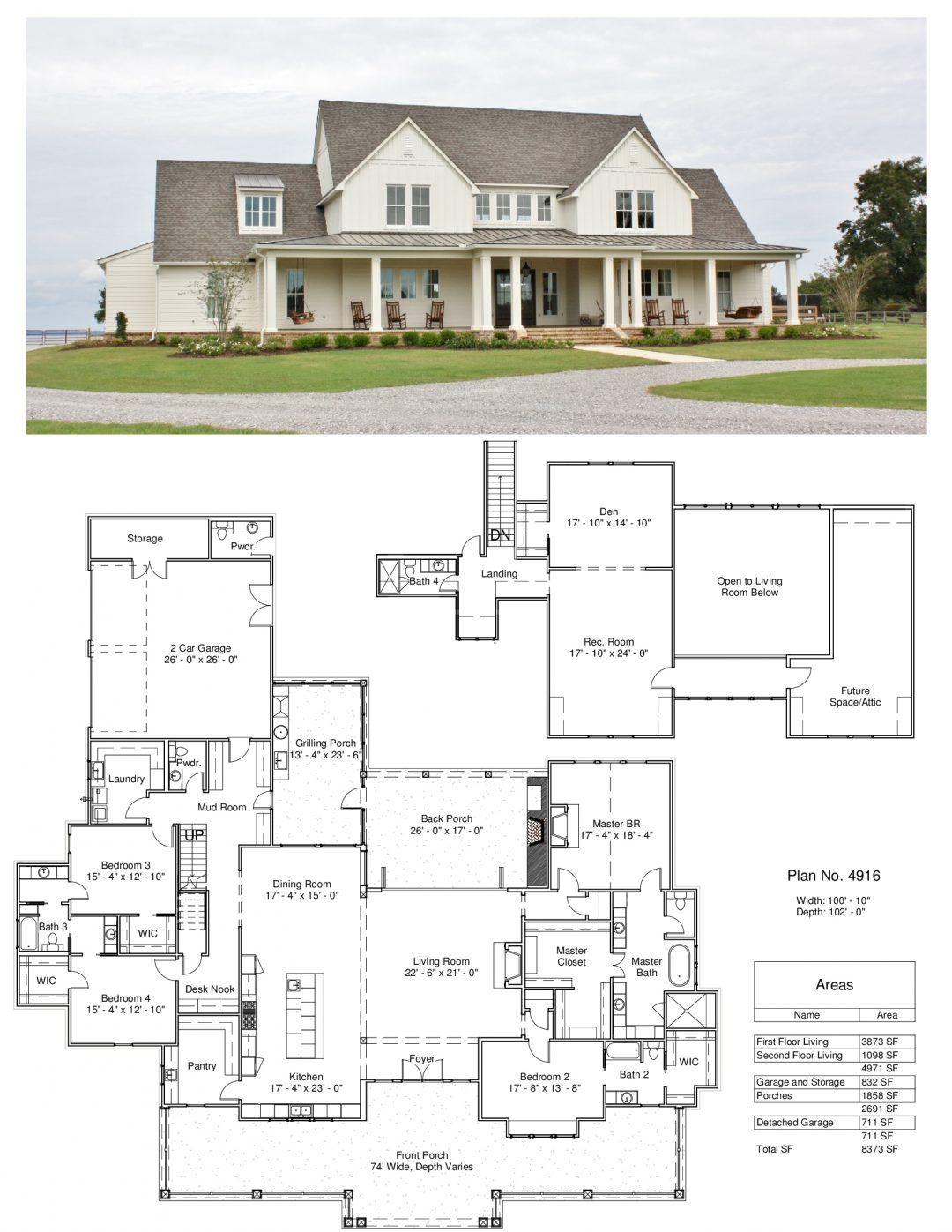 Plan 4916 Design Studio House Plans Farmhouse New House Plans House Plans