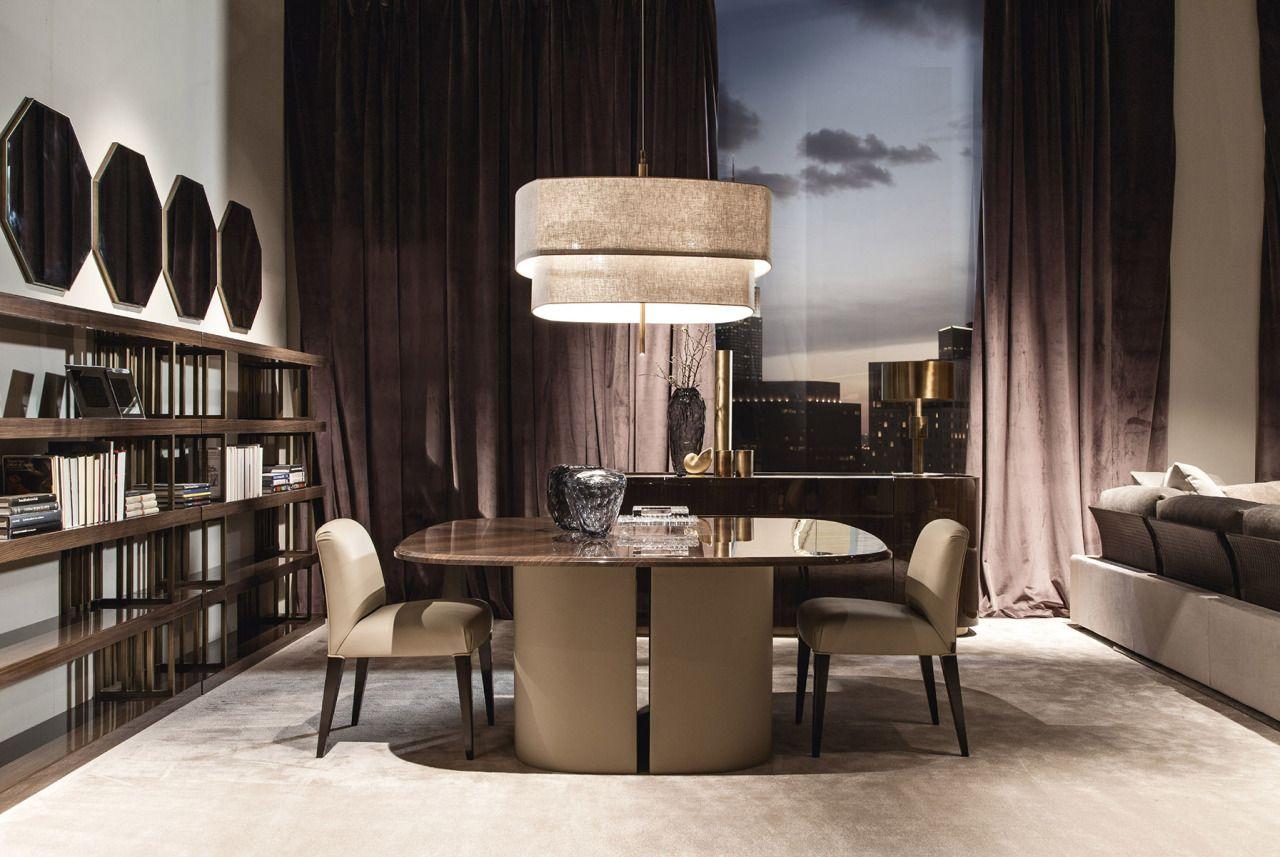 Baron Mobili ~ Giorgetti bigwig table with baron chairs. des. roberto lazzeroni