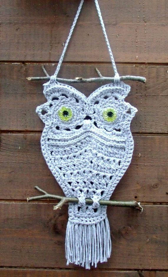 Crochet Owl Pattern PDF (Macrame Style Crochet Owl). £2.10, via Etsy.