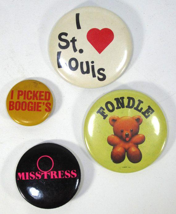 Vintage 1980's Assorted Novelty Pin Set of 4 St by TurnerVintage, $10.00