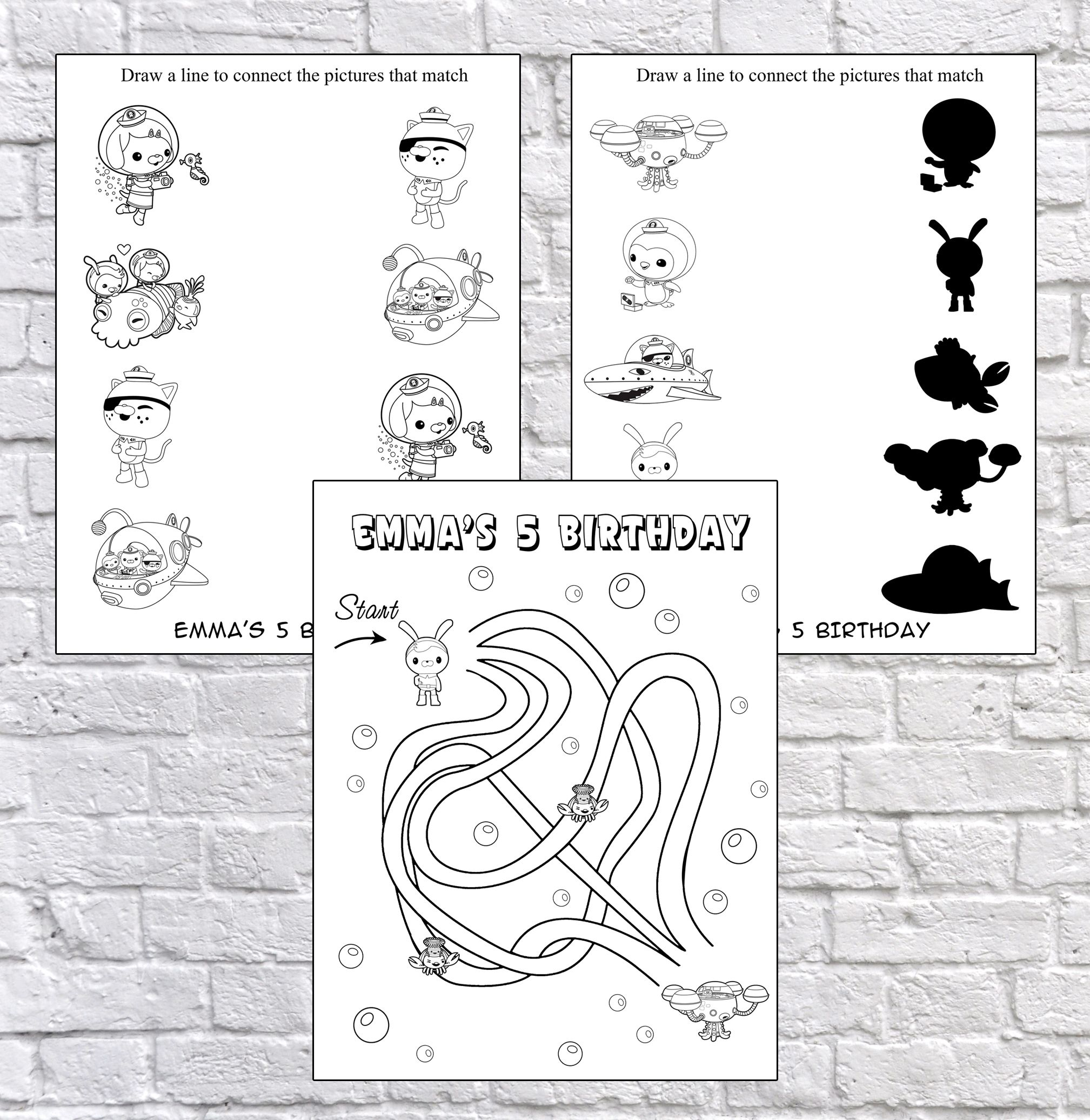 Party Games, coloring , coloring page, Activity Pages, octonauts ...