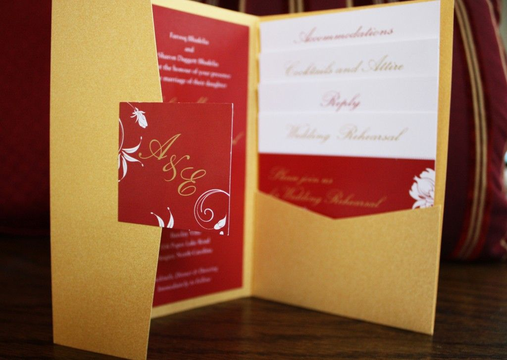 Charming Red/gold Wedding Invitation   Google Search