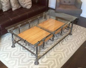 High Quality Industrial Pipe Coffee Table Di Pixel8Frameworks Su Etsy