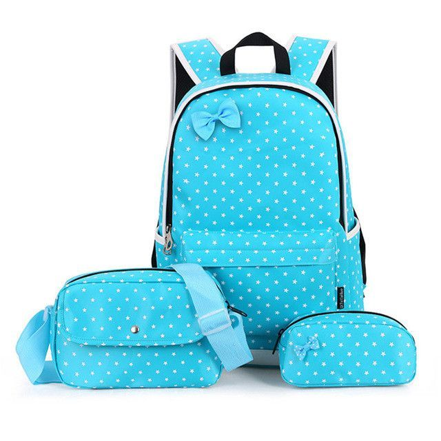 Large Capacity School Bags for Teenagers Girls Cute Ladies Dot Printing  Backpack set Women Shoulder Travel ba8a2a3dc3