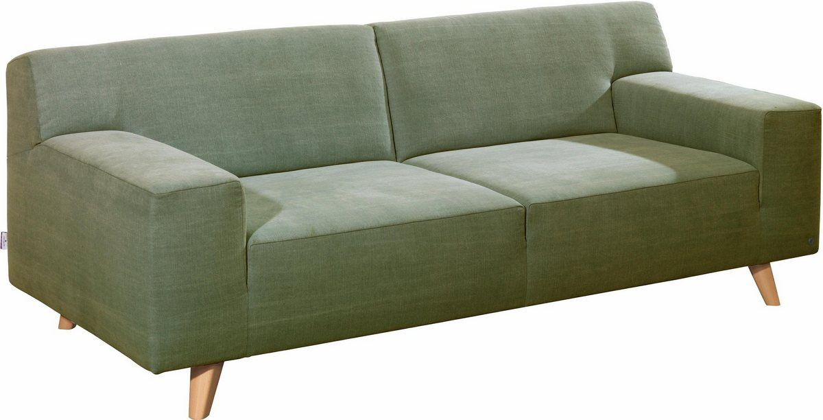 2 Sitzer Nordic Pure Im Retrolook Fusse Buche Natur Sofa Couch Furniture