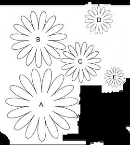 Finally A Daisy I Like Flower Template Paper Flowers Felt Flowers