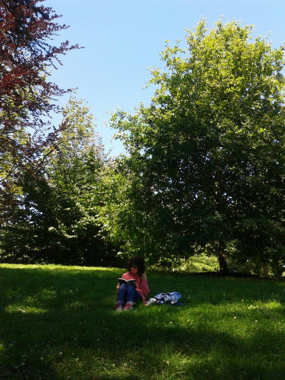 Deliciosa tarde de lectura en el parque Cristina Enea