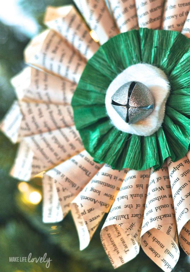 Simple Christmas Decorations Paper Medallion Paper