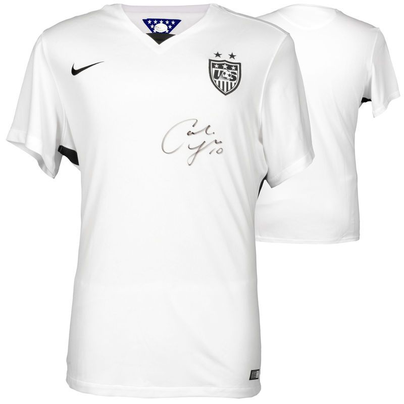 Carli Lloyd US Women s Soccer Team Fanatics Authentic 2015 World Champions  Autographed White Nike Women s Jersey 494c3b7dab