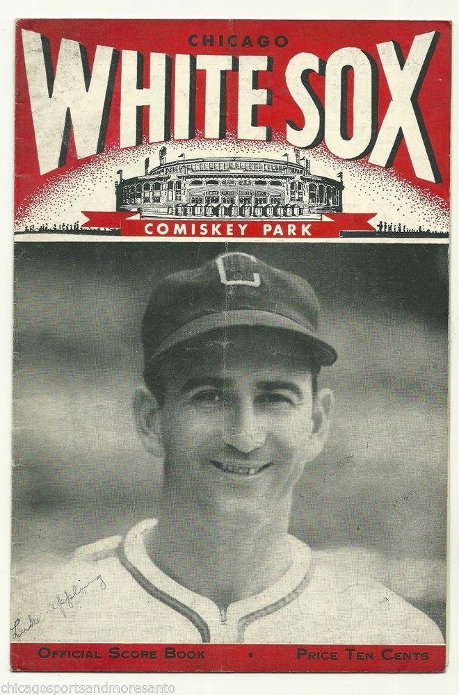 1947 Chicago White Sox Official Score Book Luke Appling Hof Vs