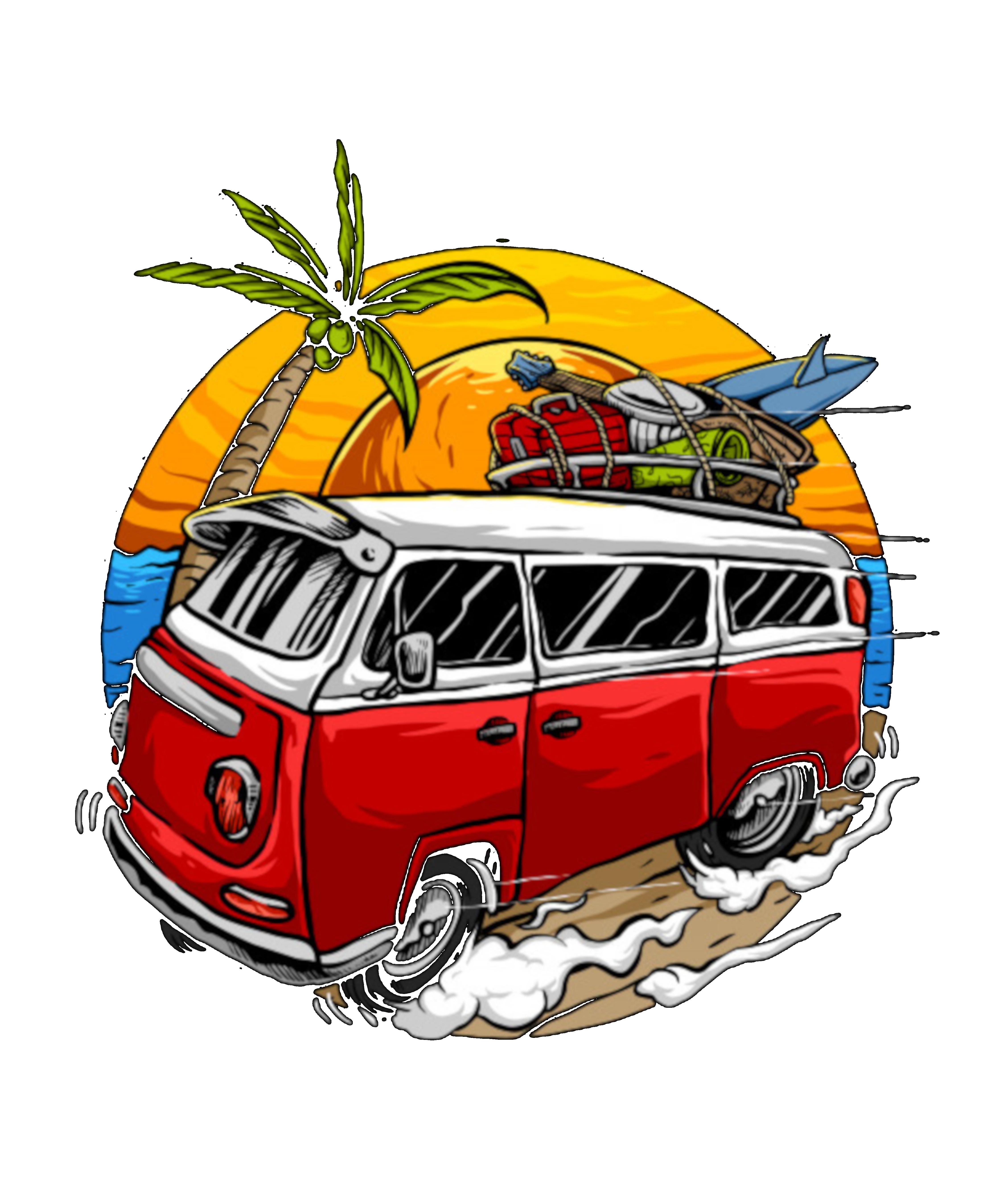 T Shirt Graphique Holiday Vintage Car With Sunset In The Beach Par Shopp In En 2020 Dessin Crayon De Couleur Dessin Graffiti Dessin Surf