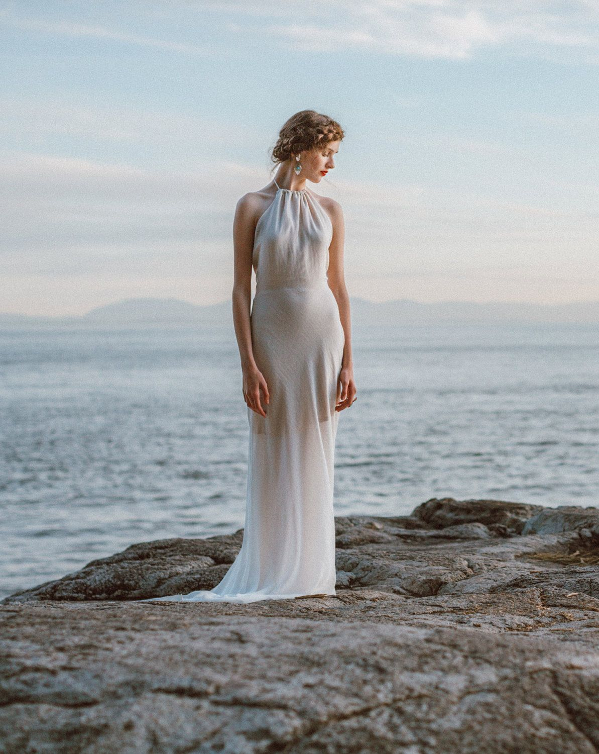 Stunning Backless Wedding Gown, Low Back Dress, Open Back Gown, Boho ...