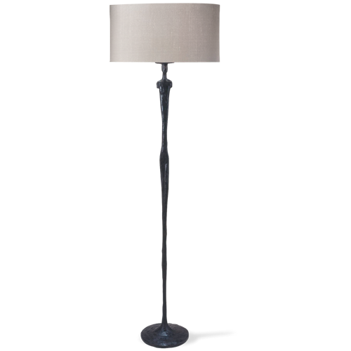 Porta Romana Vfl05 Man 3 Floor Lamp Bronzed