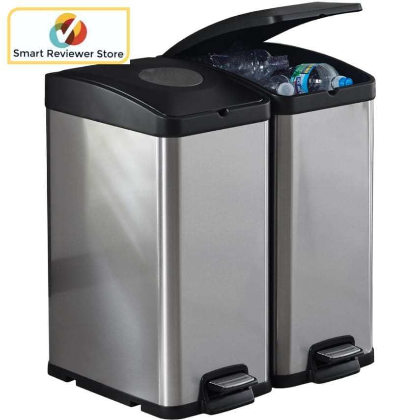 Kitchen Trash Can For Recycling Recycle Bin 30l By Better Homes