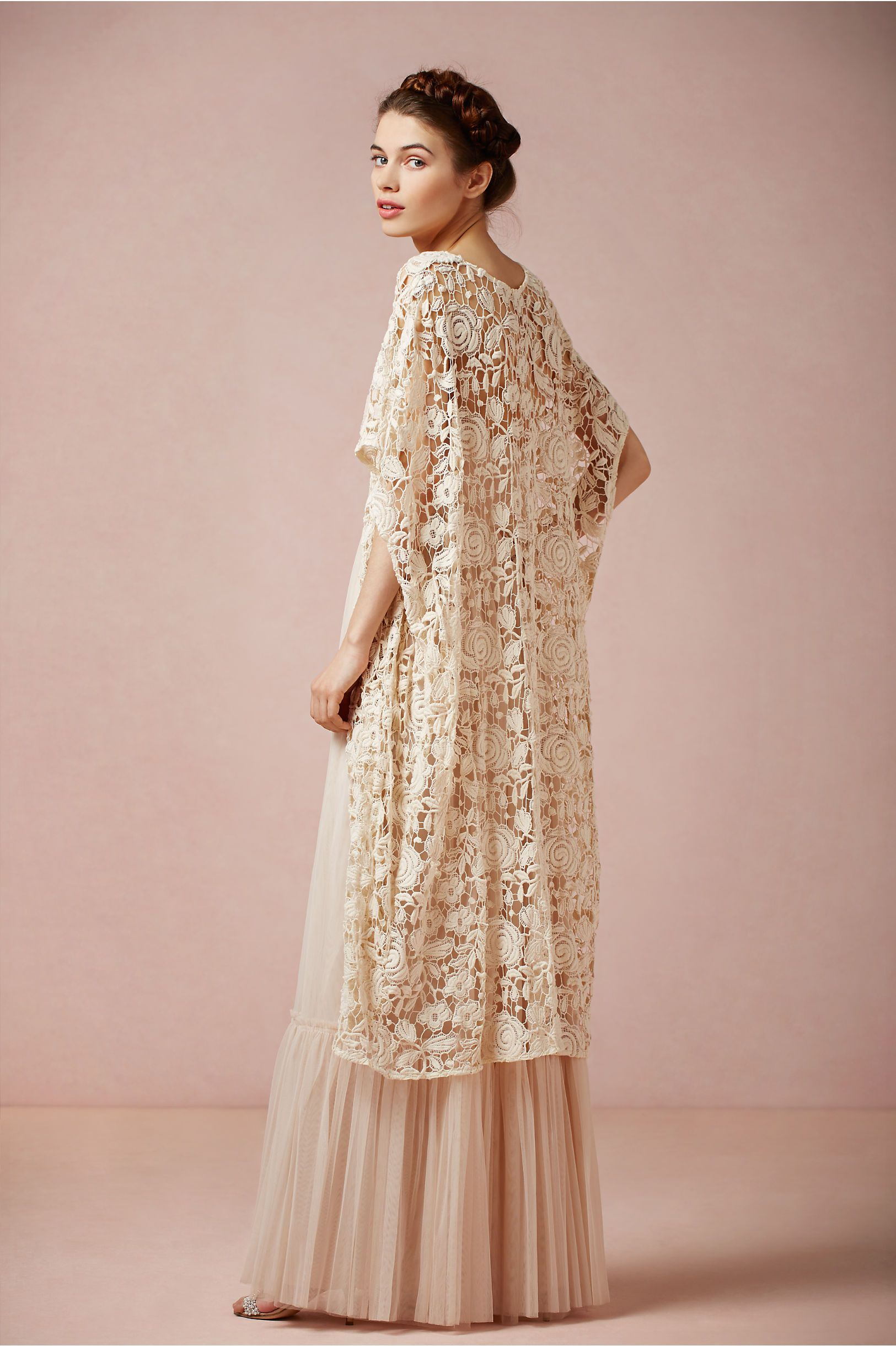 French Lace Cotton Cover-up, BHLDN Rose Garden Cape | ~ Weddings ...