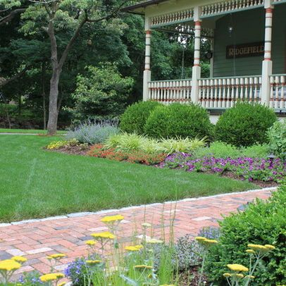 foundation plantings front