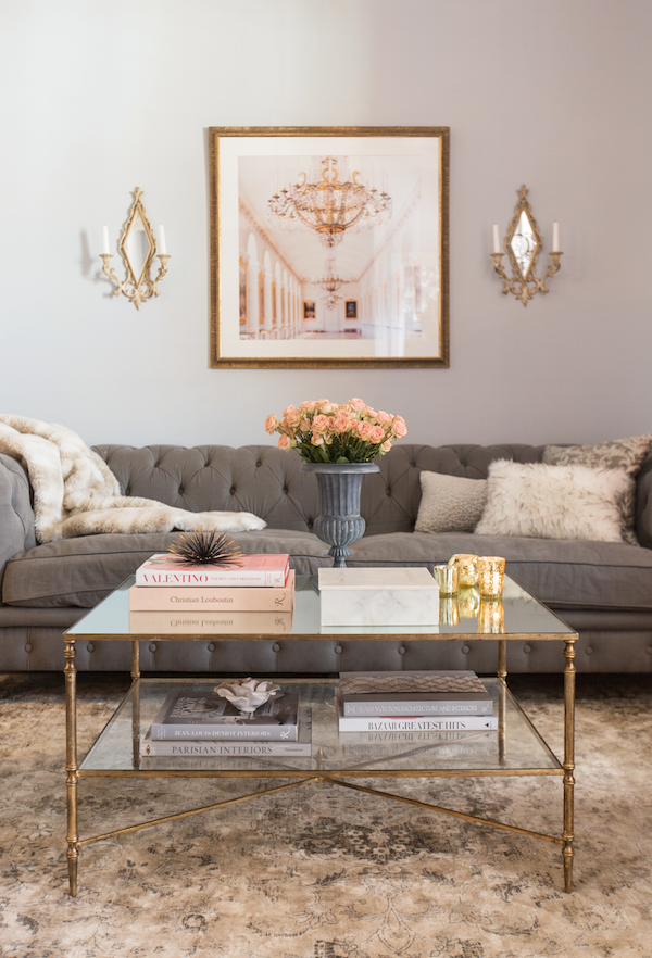 Best Feminine Living Room In Blush And Grey Home In 2019 400 x 300