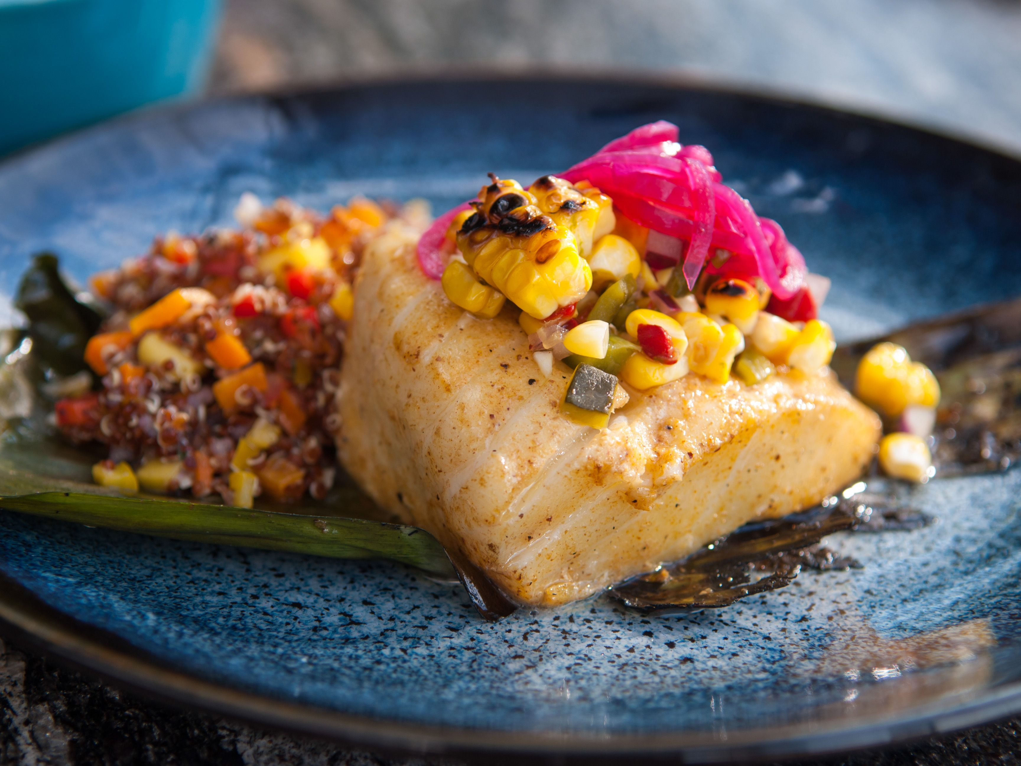 Banana leaf wrapped chilean seabass with pickled red onions recipe food forumfinder Image collections