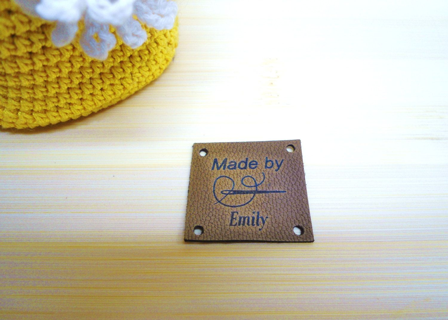 Custom Clothing Labels Cap Jeans Tags Knitting Leather Label Personalized