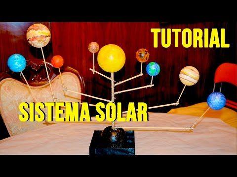 Tutorial Cómo Hacer Sistema Solar O Planetario Giratorio Fácil Para Niños Manualidades Sistema Solar Sistema Solar Para Niños Proyectos De Sistemas Solares