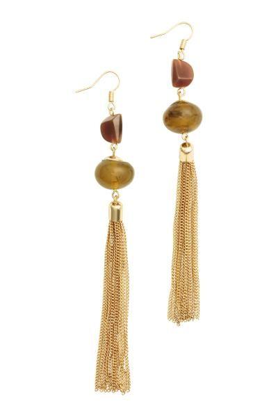 comprar baratas 1b595 30162 H&M pendientes | pendientes Diy | Pendientes largos dorados ...