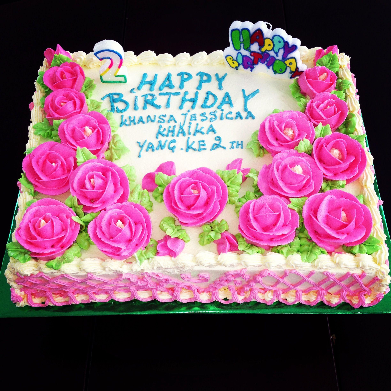 Khansa Pink Rose Birthday Cake Birthday Pinterest Cake