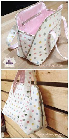 DIY Zipper Handbag Free Sewing Pattern | Fabric Ar... - #Ar #DIY #Fabric #Free #HANDBAG #pattern #purse #sewing #Zipper #blousesewingpattern