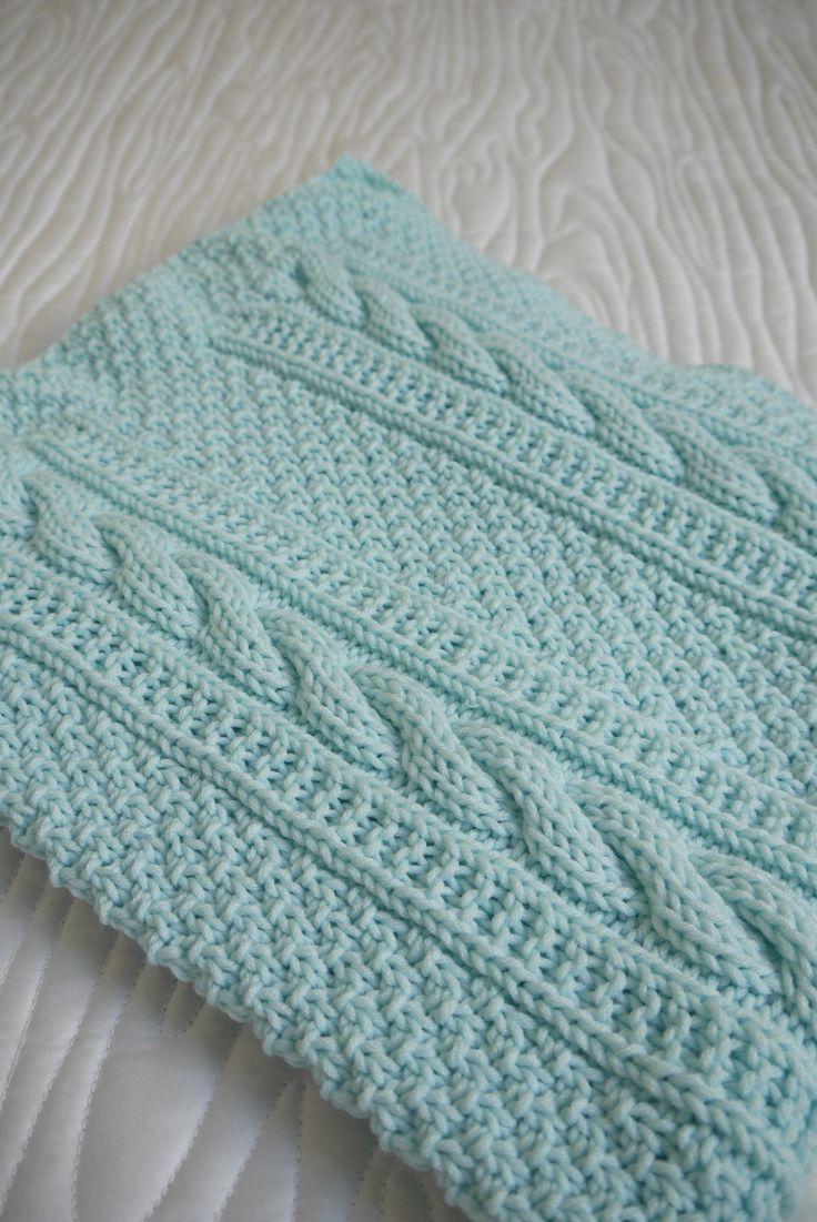 Resultado de imagen para knitting baby blanket with design ...