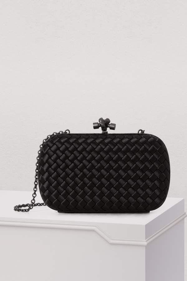Bottega Veneta Clutch with a chain - black designer clutch bag Bolsas  Personalizadas b14dfbcaa20
