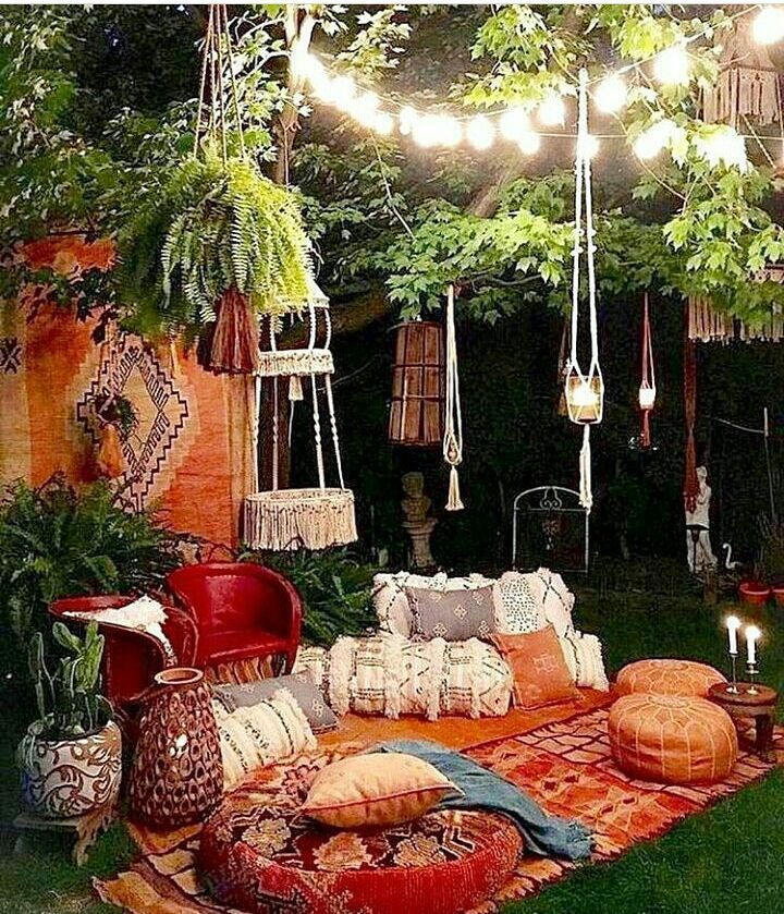 "37 Beautiful Bohemian Patio Designs: A Collection Of Bohemian ""Everything"" To Create A"