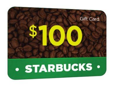 100 STARBUCKS GIFT CARD! 2019 Starbucks gift card