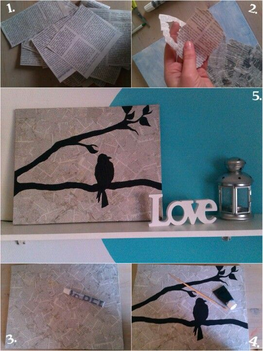 Diy, painting with birds