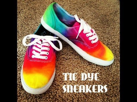 37f361387358 DIY  Tie Dye Sneakers! Will be doing this and converse!!
