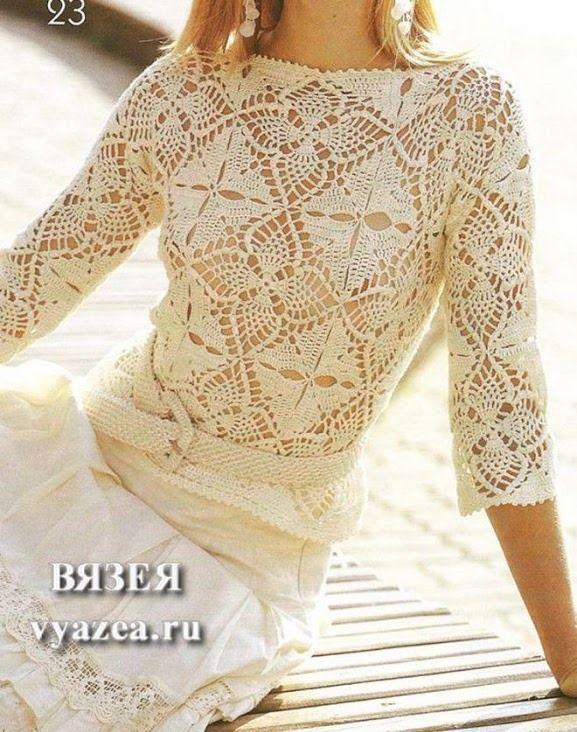 Pin de Svetlana T. en CROCHET; pullovers | Pinterest | Blusas ...