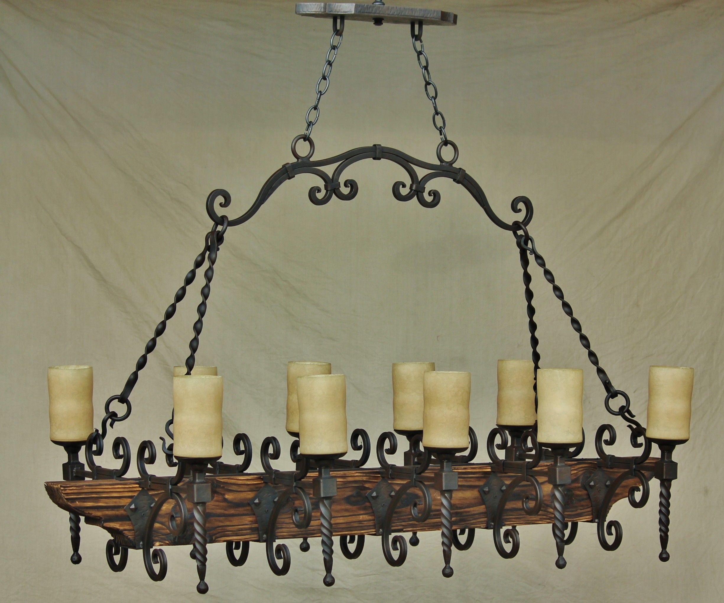 Country italian log cabin tuscan chandelier hand forged wrought iron country italian log cabin tuscan chandelier hand forged wrought iron wood pot rack mozeypictures Image collections