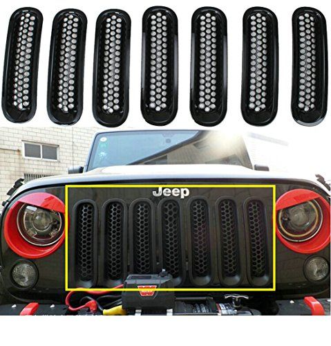 Sunroadway® Black Front Grill Mesh Grille Insert Kit For Jeep Wrangler Rubicon Sahara Jk 2007-2015 7PC - http://www.caraccessoriesonlinemarket.com/sunroadway-black-front-grill-mesh-grille-insert-kit-for-jeep-wrangler-rubicon-sahara-jk-2007-2015-7pc/ #20072015, #Black, #Front, #Grill, #Grille, #Insert, #Jeep, #Mesh, #Rubicon, #Sahara, #Sunroadway, #Wrangler #Jeep-Parts-Accessories