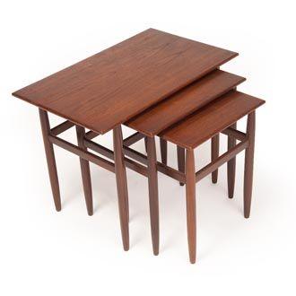 Danish Modern Nesting Tables. SOLD