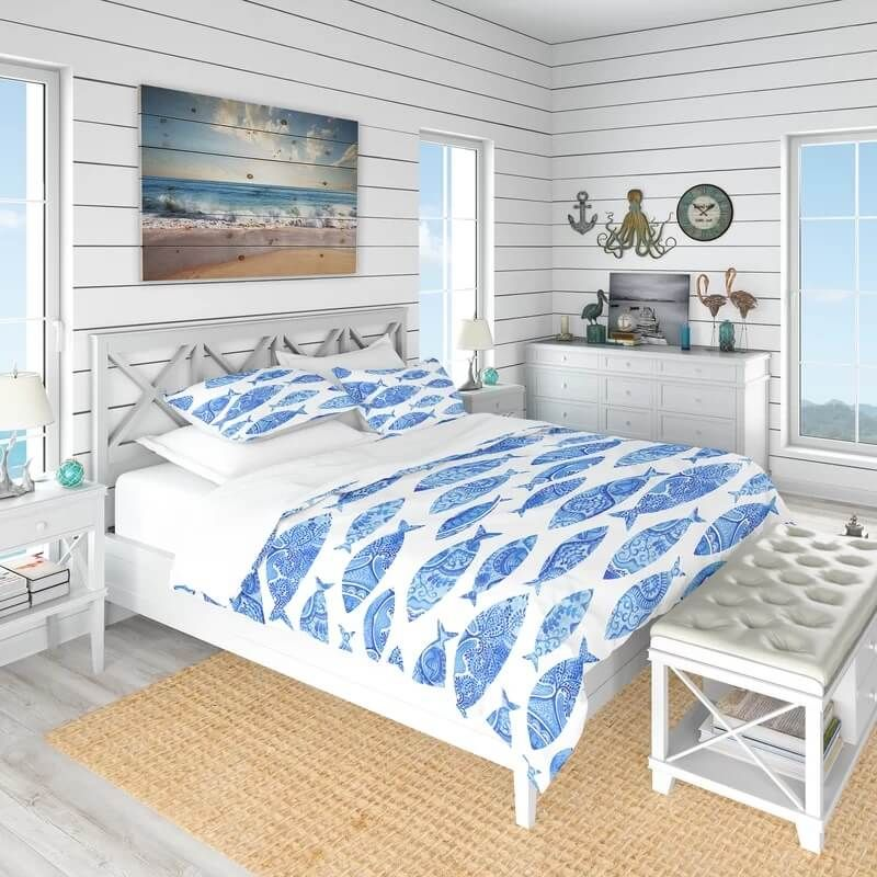 Beach Themed Bedrooms Ideas In 2020 Beach House Bedroom Beach