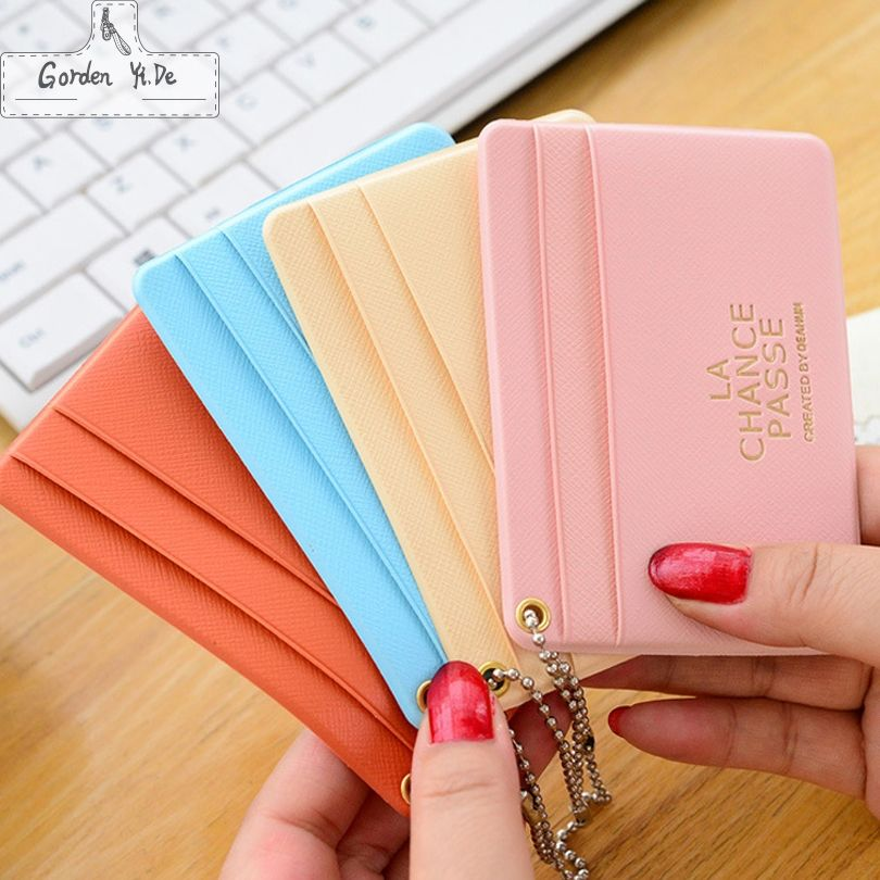 Square Travel Credit Card Holder Wallet Visiting Id Business Cover For Bus Cards Bag Case