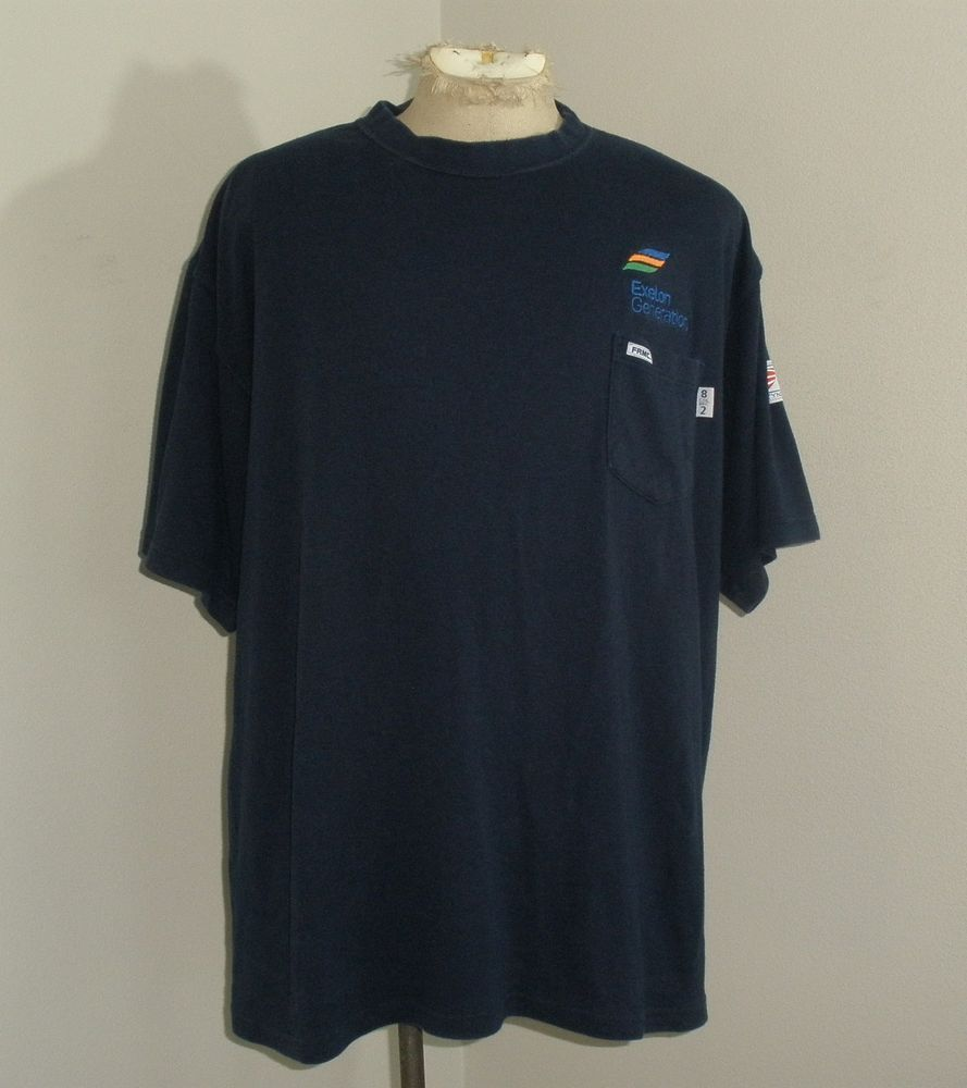d5180e1630f1 Mens TYNDALE M020T FRC fire flame resistant Navy Blue shirt USA MADE 3XL  LONG  fashion