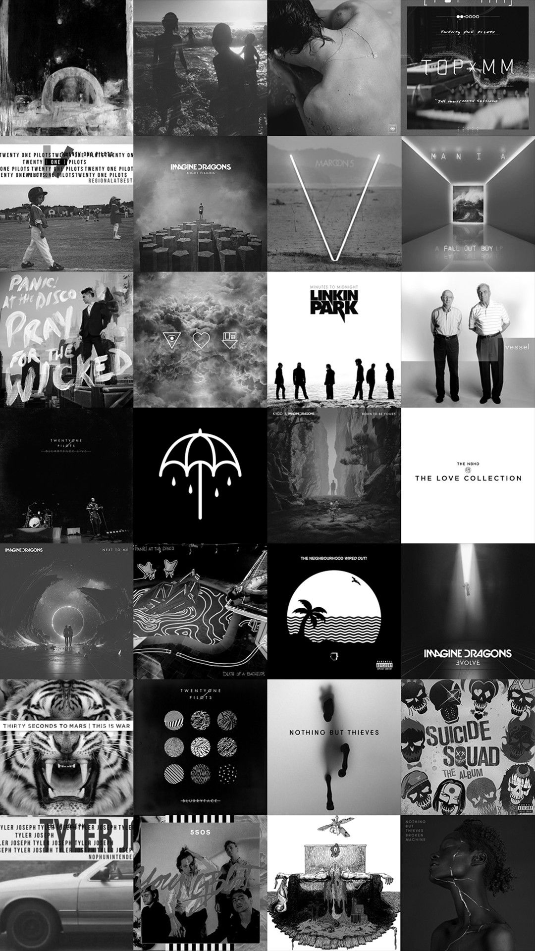 f70ad2d66789b Twenty One Pilots Panic at the Disco Imagine Dragons Linkin Park The  Neighbourhood Nothing But Thieves Maroon 5 Harry Styles 30 seconds to mars  5 seconds od ...