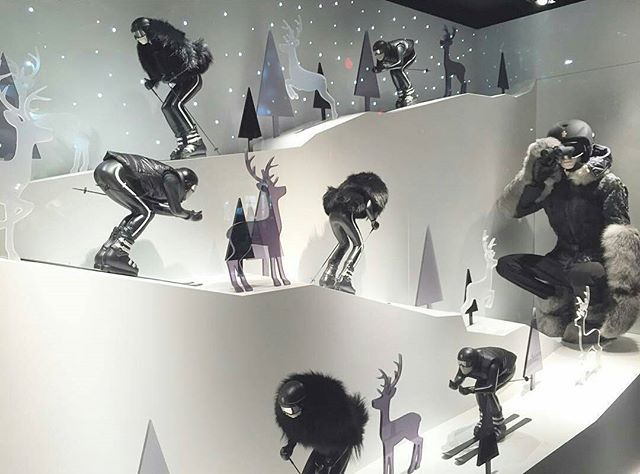 """MONCLER,Milan,Italy, """"Skiing is a dance...and the mountain always lead"""", pinned by Ton van der Veer"""