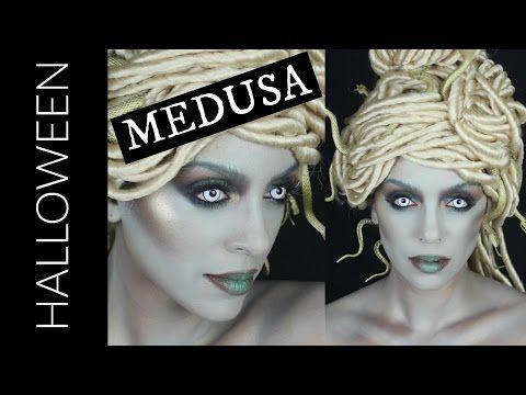 HOW TO MODERN MEDUSA HAIR u0026 MAKEUP   HALLOWEEN TUTORIAL - YouTube  sc 1 st  Pinterest & HOW TO: MODERN MEDUSA HAIR u0026 MAKEUP   HALLOWEEN TUTORIAL - YouTube ...