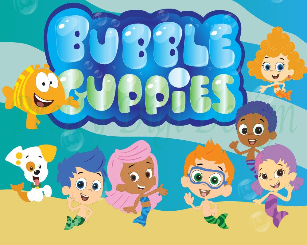 Instant download Bubble Guppies clipart, PNG files, Bubble guppies ...